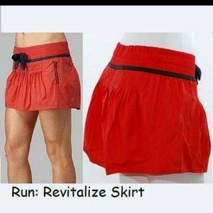 Lululemon run Revitalise skort orange & grey